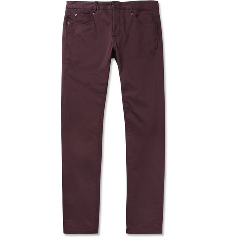 McQ Alexander McQueen Slim-Fit Brushed Cotton-Blend Jeans