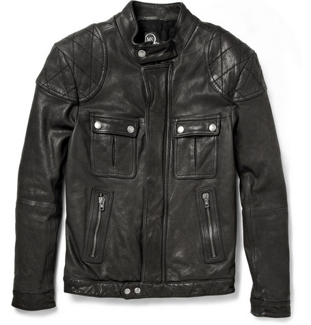 McQ Alexander McQueen Slim-Fit Padded Leather Biker Jacket