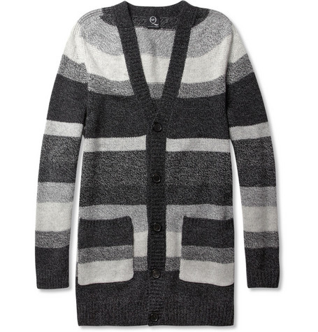 McQ Alexander McQueen Striped Wool Cardigan