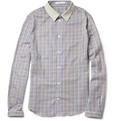 Carven Slim-Fit Contrast-Collar Cotton Shirt
