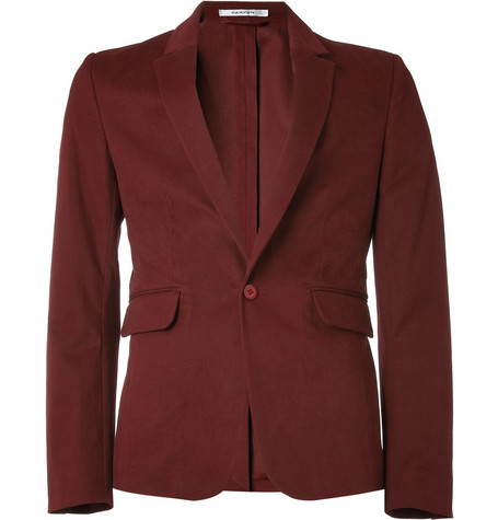 Carven Slim-Fit Cotton-Blend Blazer