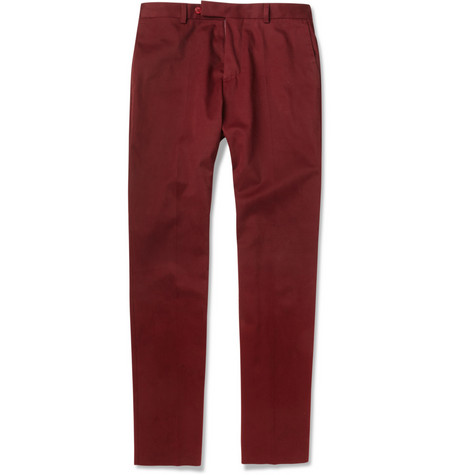 Carven Brushed Cotton-Blend Trousers