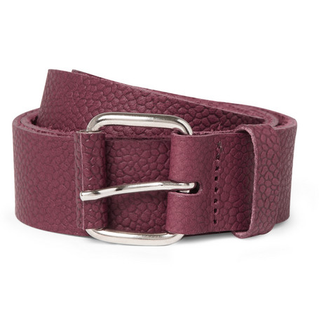 Carven Full-Grain Leather Belt