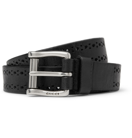 Gucci Perforated Leather Belt