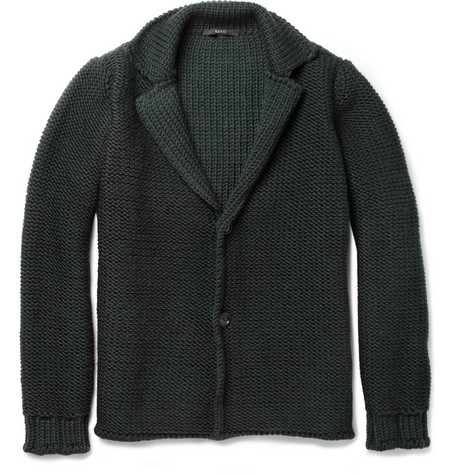 Gucci Chunky-Knit Wool Cardigan