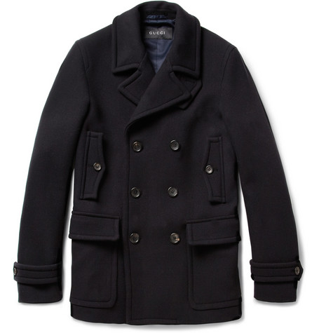Gucci Slim-Fit Cotton Peacoat