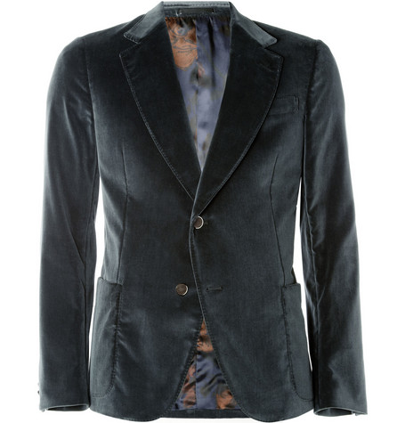Gucci Unstructured Velvet Blazer