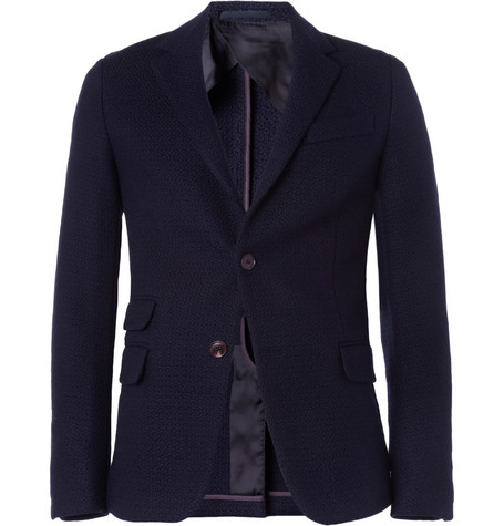 Gucci Slim-Fit Textured Woven-Wool Blazer