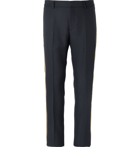 Gucci Side-Stripe Slim-Fit Trousers