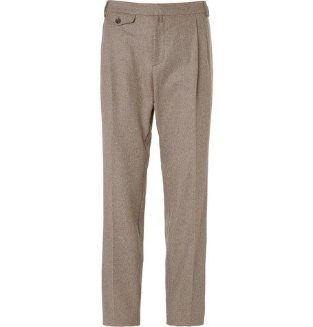 Gucci Pleated Wool and Cashmere-Blend Trousers
