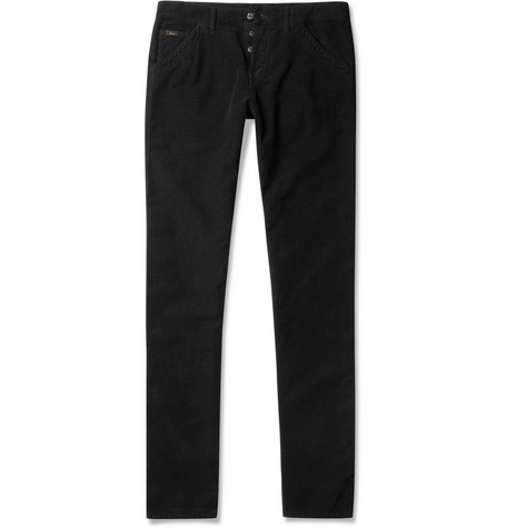 Gucci Side-Band Slim-Fit Cotton Jeans