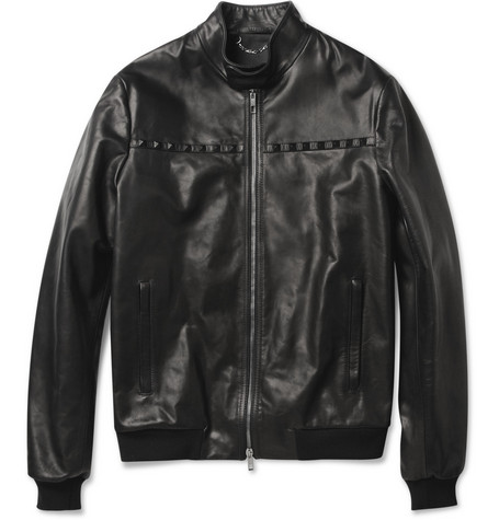 Valentino Studded Leather Bomber Jacket