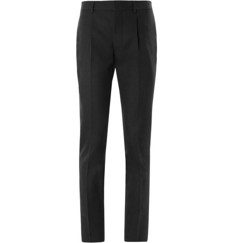 Valentino Pleated Wool-Twill Trousers