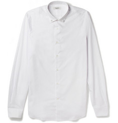 Valentino Slim-Fit Studded-Collar Cotton Shirt