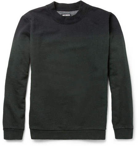 Raf Simons Dip-Dyed Cotton-Blend Sweatshirt