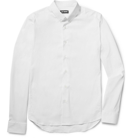 Raf Simons Button-Down Collar Cotton-Blend Shirt