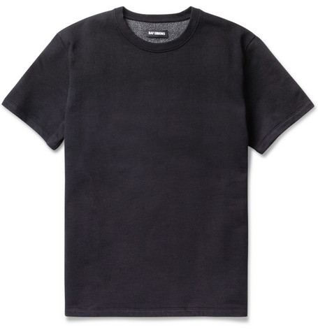 Raf Simons Dip-Dyed Cotton-Blend Short-Sleeved Sweatshirt