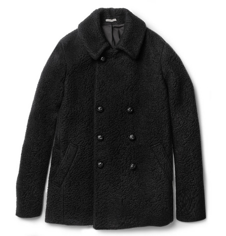 Bottega Veneta Double-Breasted Boiled-Wool Coat