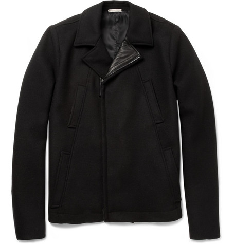 Bottega Veneta Leather-Trimmed Wool-Blend Jacket