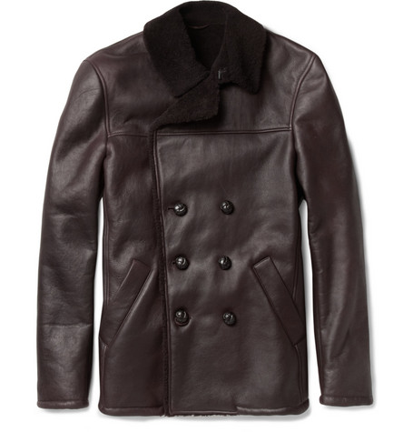 Bottega Veneta Double-Breasted Shearling Jacket
