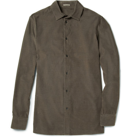 Bottega Veneta Corduroy Cotton and Cashmere-Blend Shirt