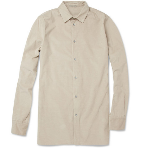 Bottega Veneta Needle-Corduroy Cotton and Cashmere-Blend Shirt