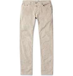 Bottega Veneta Slim-Fit Stretch-Cotton Corduroy Trousers
