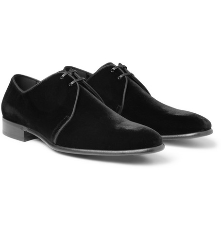 Dolce & Gabbana Velvet Derby Shoes