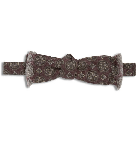Dolce & Gabbana Printed Wool and Silk-Blend Bow Tie