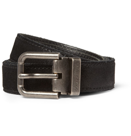 Dolce & Gabbana Washed-Suede Belt