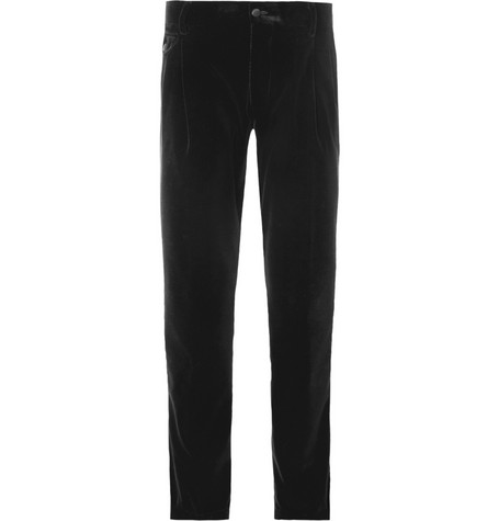 Dolce & Gabbana Pleated Velvet Trousers