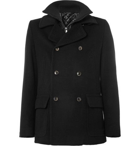 Dolce & Gabbana Wool-Blend Peacoat with Detachable Gilet