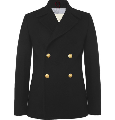 Band of Outsiders Quilted Wool-Blend Peacoat