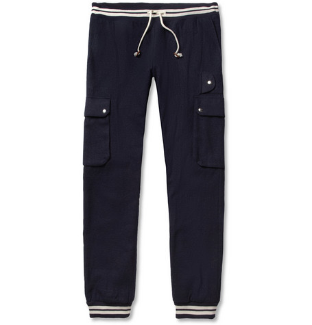 Band of Outsiders Straight-Leg Cotton and Wool-Blend Trousers