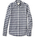 Band of Outsiders Button-Down Collar Cotton-Flannel Shirt