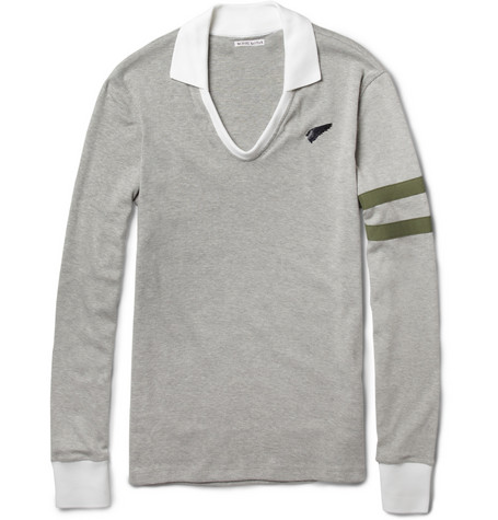 Michael Bastian Long-Sleeved Cotton Polo Shirt