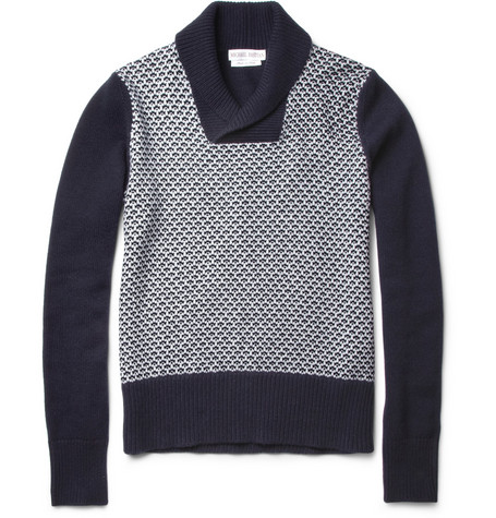 Michael Bastian Shawl-Collar Cashmere Sweater