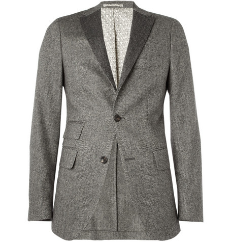 Michael Bastian Slim-Fit Herringbone Wool Blazer