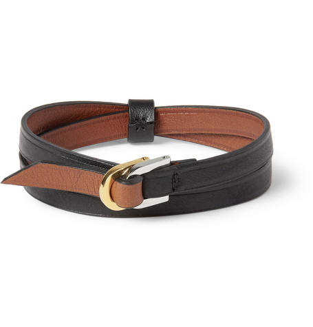 WANT Les Essentiels de la Vie Arlanda Double-Wrap Leather Bracelet