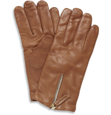 WANT Les Essentiels de la Vie Mozart Cashmere-Lined Leather Gloves