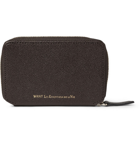 WANT Les Essentiels de la Vie Kimpo Textured-Leather Business Card Case