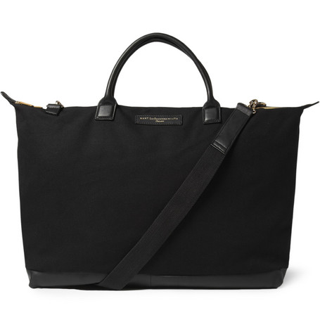 WANT Les Essentiels de la Vie Hartsfield Leather-Trimmed Cotton-Canvas Tote Bag