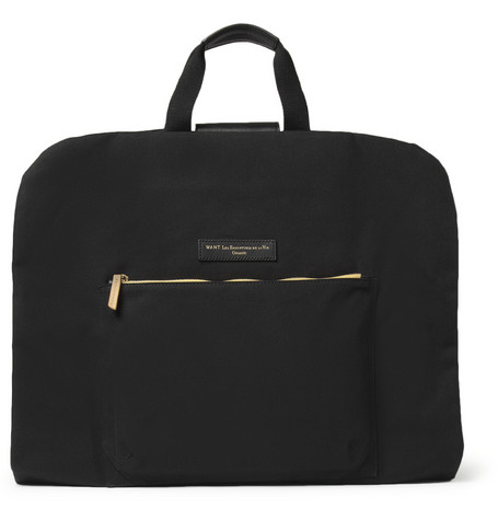WANT Les Essentiels de la Vie Stansted Leather and Cotton-Canvas Suit Carrier