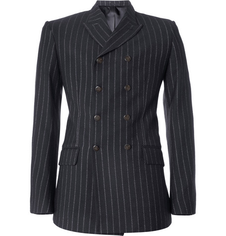 Alexander McQueen Double-Breasted Wool-Blend Suit Jacket