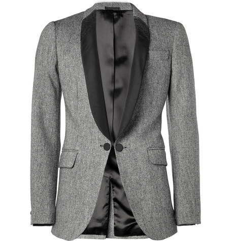 Alexander McQueen Wool-Blend and Satin-Twill Tuxedo Jacket