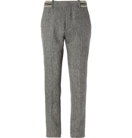 Alexander McQueen Slim-Fit Wool-Blend Twill Trousers