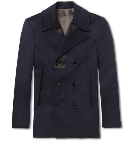 Alexander McQueen Trimmed Wool and Cashmere-Blend Peacoat