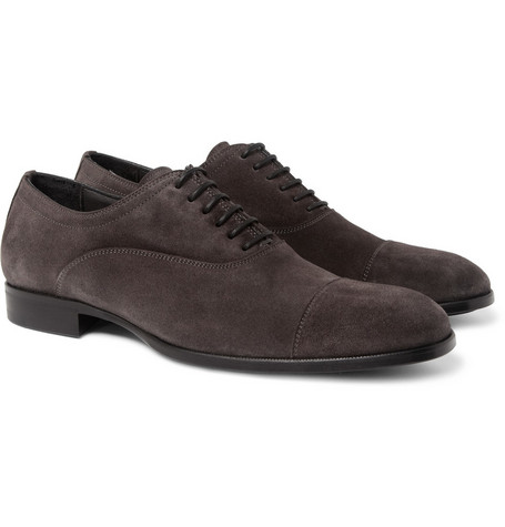 Alexander McQueen Suede Oxford Shoes