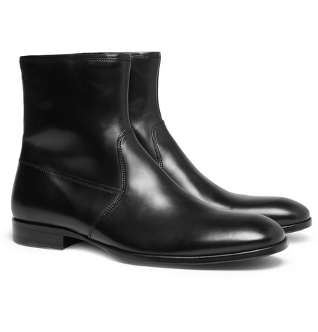 Alexander McQueen Zipped Leather Boots