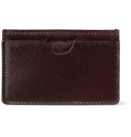 Alexander McQueen Ponyskin Card Holder